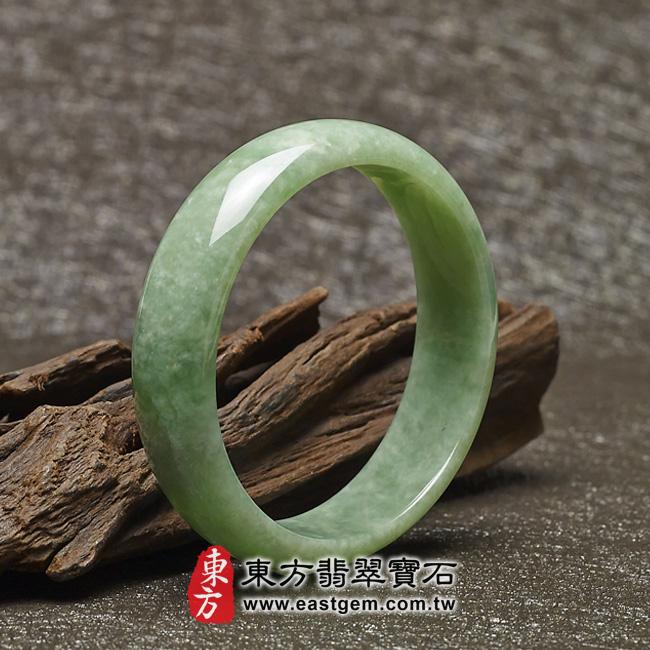 豆種手鐲豆種玉鐲豆種翡翠手鐲淺綠色玉鐲手鐲些微透光圓鐲18.5 BE006