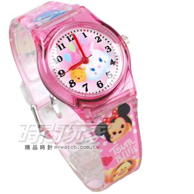 迪士尼Disney TsumTsum瑪麗貓維尼熊疊疊樂卡通手錶兒童手錶防水手錶DT瑪麗貓粉