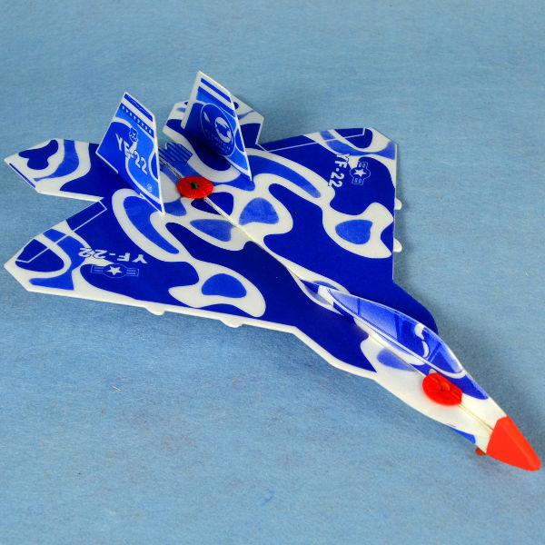 佳廷家庭 DIY紙模型立體勞作3D立體拼圖專賣店 航空模型飛機 彈射迴旋飛機5 美國F22 FLYWITCH