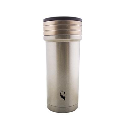 等一個人咖啡真空雙層內陶瓷保溫杯350ml-火把金銅色