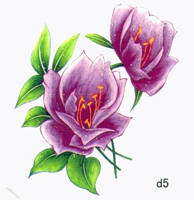 薇嘉雅 玫瑰花 超炫圖案紋身貼紙 d5