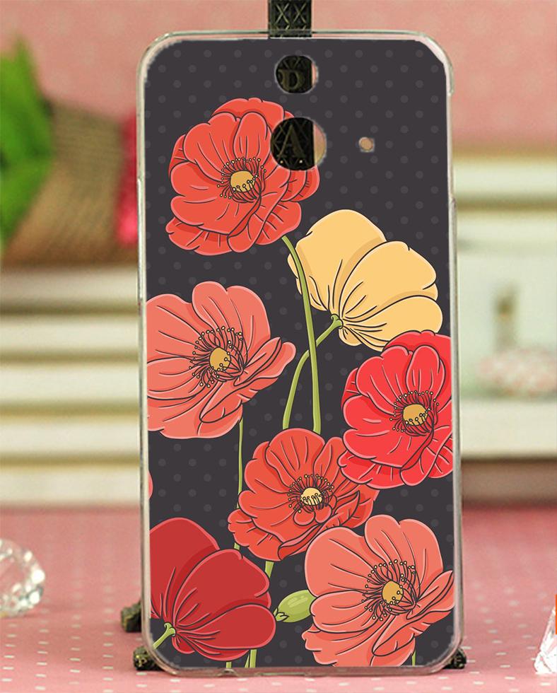 ✿ 3C膜露露 ✿ HTC One E8【盛開花朵*水晶硬殼 】手機殼 保護殼 保護套 手機套
