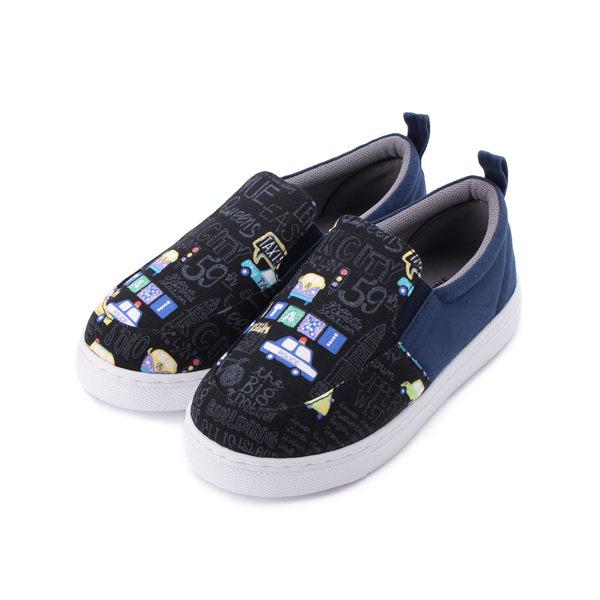 MDL 套式印花汽車休閒鞋 黑 中大童鞋 鞋全家福