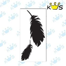 【收藏天地】防水防曬*安全帽 汽機車 浮雕貼紙-羽毛(2色) 小