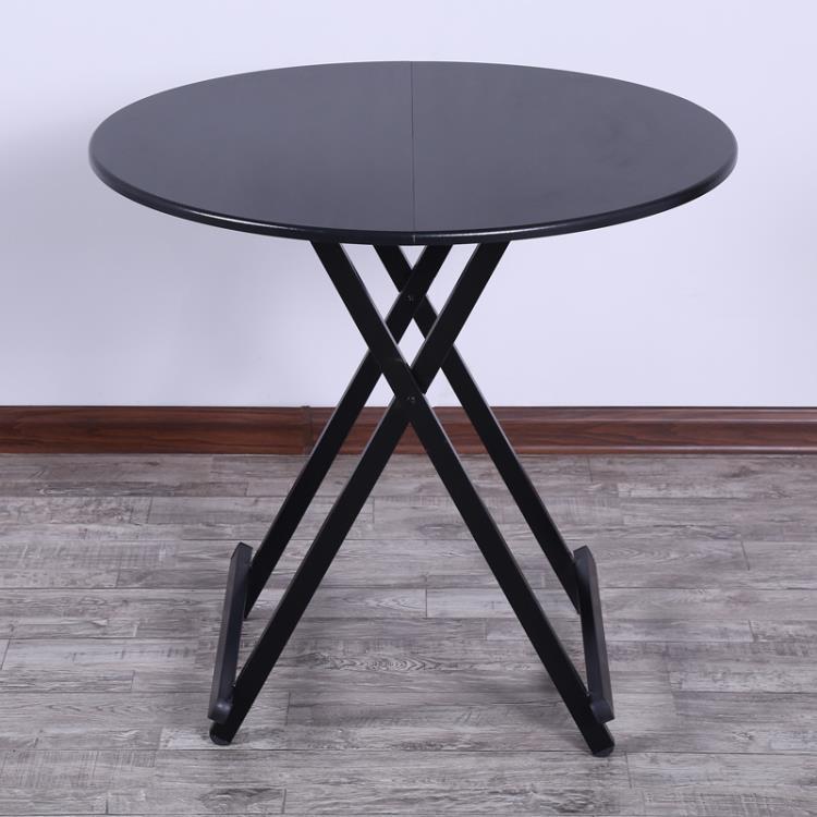 家用折疊桌多功能簡易吃飯桌子飯桌圓可折疊簡易餐桌TW※元氣少女※