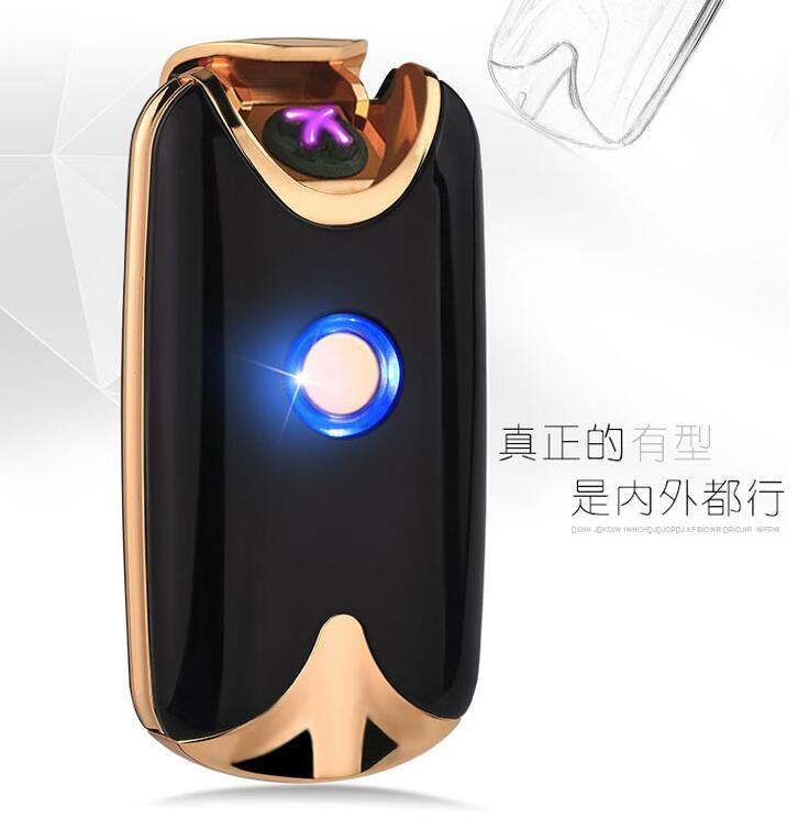 幸福居*雙電弧打火機充電貴族USB點煙器創意防風男士送男朋友潮