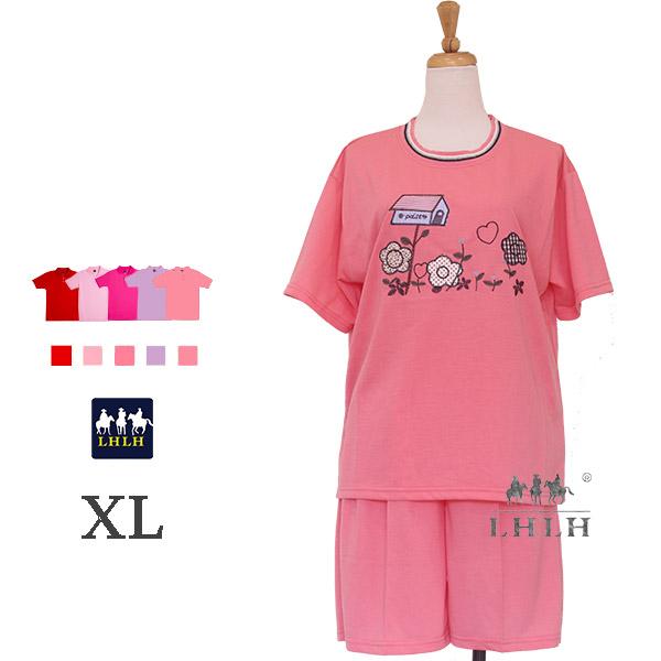 運動服 休閒服 居家服 女 短袖短褲 【現貨】 XL