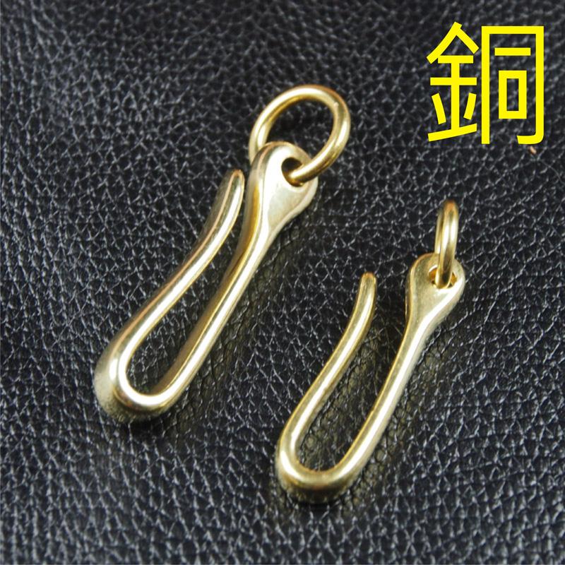 純銅U型鉤6CM皮包外掛鉤鑰匙鉤鍊條鉤手機鉤皮帶鉤-不生鏽