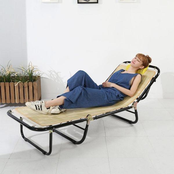 【澄境】蓆面五段三折萬年床 折疊床 躺椅 涼椅 竹蓆 行軍床 休閒椅 涼蓆 竹蓆 摺疊床 I-AD-CH001