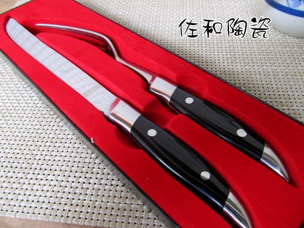 佐和陶瓷餐具~38C5001鐵板燒刀叉組電木柄專業營業用鐵板燒烤肉燒肉刀叉組牛排