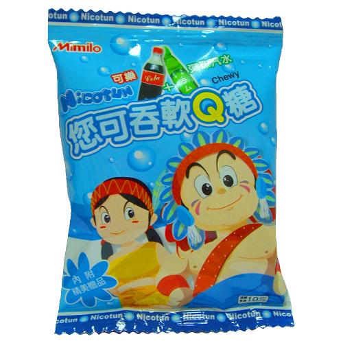Nicotun您可吞軟Q糖-可樂 彈珠汽水12.5g【愛買】
