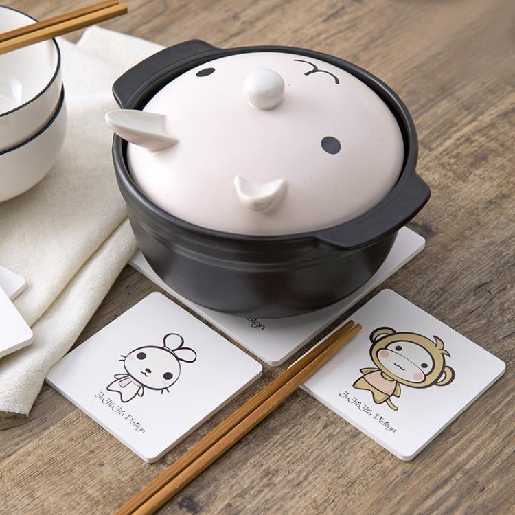 [超豐國際]卡通隔熱墊餐桌墊防燙鍋墊 創意家用可愛碗墊子茶杯墊杯