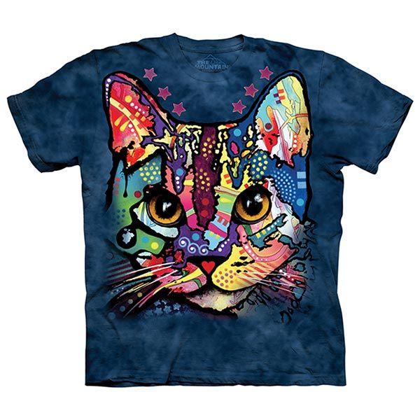 摩達客預購美國進口The Mountain彩繪傻瓜貓純棉環保短袖T恤10415045208
