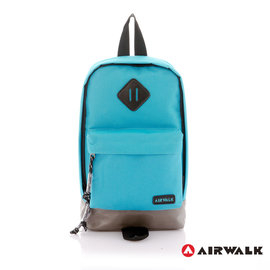 BACKBAGER 背包族【美國 AIRWALK】豬鼻斜背小包 後肩包/後背包/休閒包 藍色 A3313101