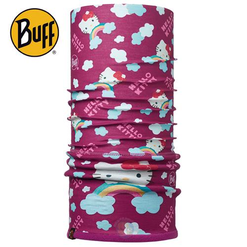 BUFF BF113204莓紫彩虹KITTY POLAR保暖頭巾蝴蝶魚戶外