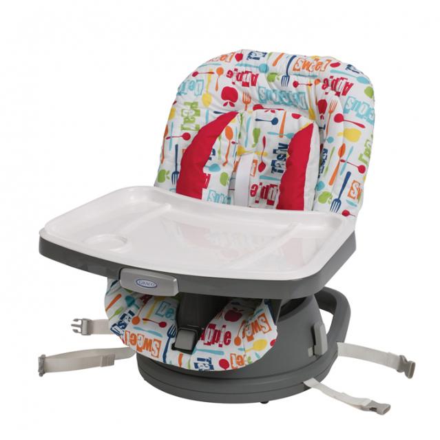 聰明媽咪-Graco 成長型旋轉餐椅Swivi Seat™ 3-in-1 Booster(小蘋果)