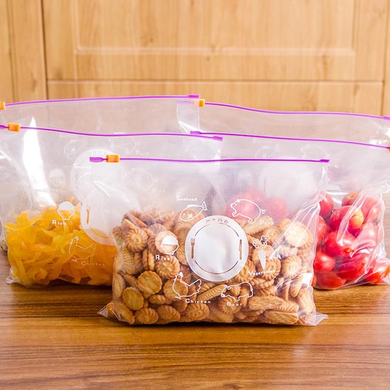 米菈生活館N89-1夾鏈自封袋套裝五大五小保鮮食品分類廚房小物零食蔬菜水果
