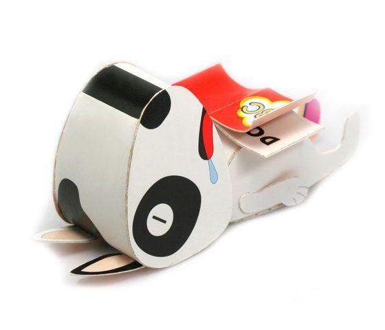 猴子設計牛頭梗模型明信片-DIY紙模型