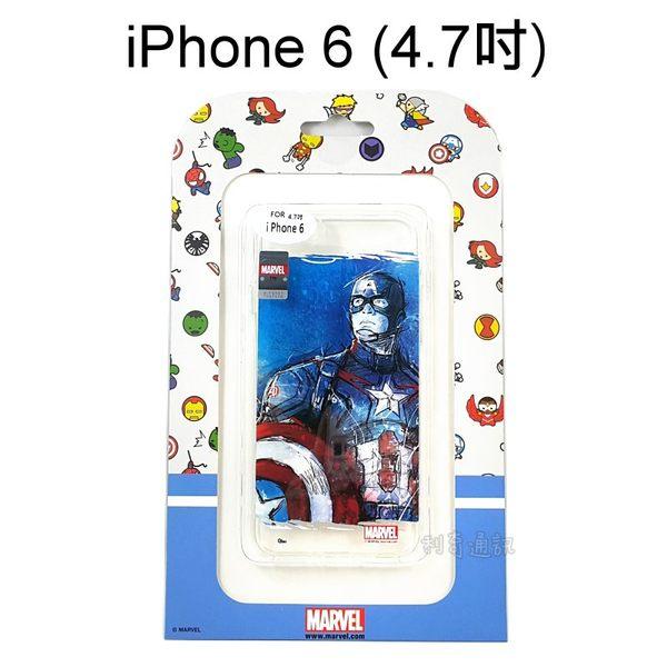 復仇者海報版透明軟殼美國隊長iPhone 6 6S 4.7吋正版授權