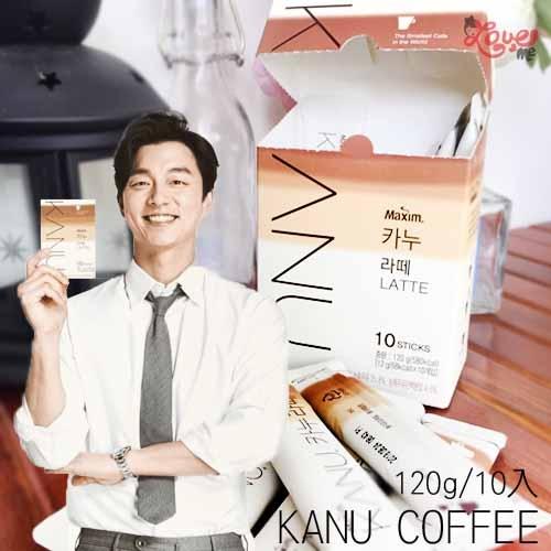 韓國KANU無糖拿鐵漸層包裝孔劉代言拿鐵即溶咖啡咖啡包無糖鬼怪120g 10入