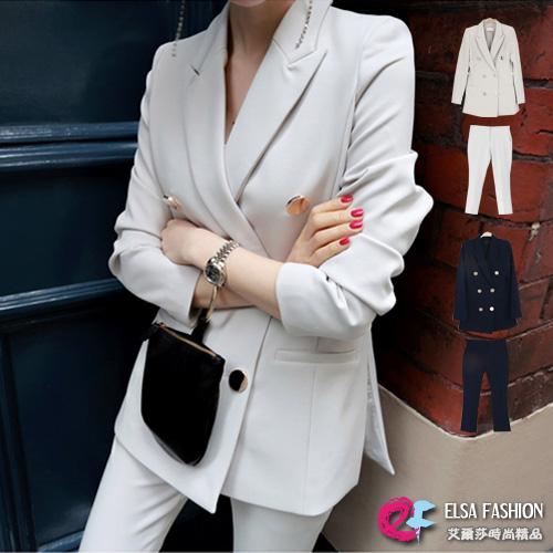 西裝外套西裝褲套裝韓風時尚收腰西裝外套修身西裝褲兩件式褲裝艾爾莎TGK5647