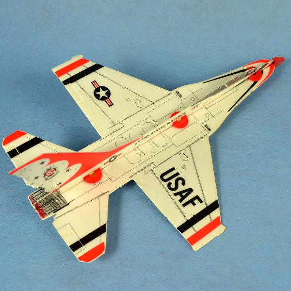 佳廷家庭 DIY紙模型立體勞作3D立體拼圖專賣店 航空模型飛機 彈射迴旋飛機2 美國F16  FLYWITCH