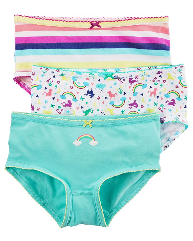 3件組彈性內褲套裝: 彩虹獨角獸: D31G130