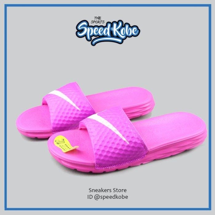 NIKE拖鞋W Benassi Solarsoft桃白粉紅輕量少女超萌基本女705475-600 Speedkobe