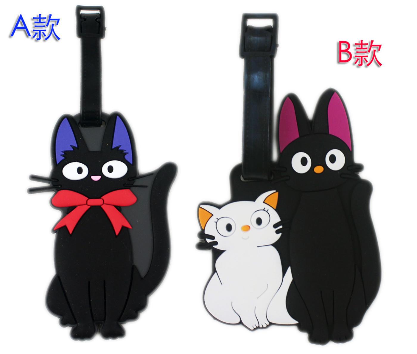 【卡漫城】 黑貓 行李吊牌 二款選一 名牌套 Kiki 行李箱 書包 識別 姓名吊牌 掛牌 送禮 貓咪 Cat