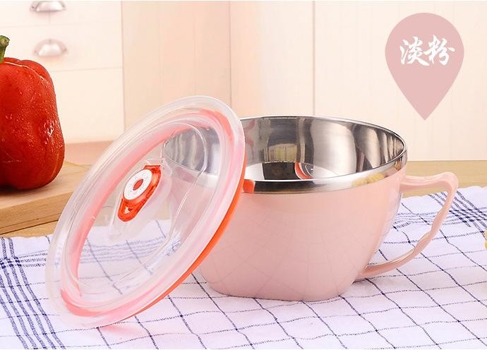 TwinS韓式泡麵神器304不鏽鋼泡麵碗 整塊麵泡才好吃 保鮮碗隔熱碗【顏色隨機發貨】現貨 預購