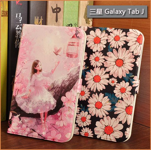 彩繪皮套Samsung Galaxy Tab J 7.0平板皮套7吋支架軟殼超薄磁釦保護套J MAX平板皮套T285YD保護殼