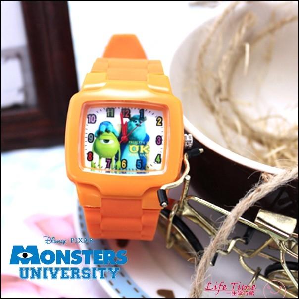 迪士尼毛怪大眼怪正版怪獸大學矽膠錶帶石英錶手錶兒童錶H01024