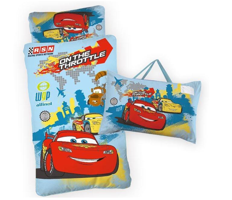 台製卡通授權兒童睡袋-汽車總動員(閃電麥坤CARS)