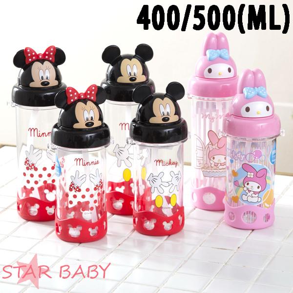STAR BABY-正牌米奇米妮美樂蒂吸管兒童水壺水瓶水杯學習水壺學習杯