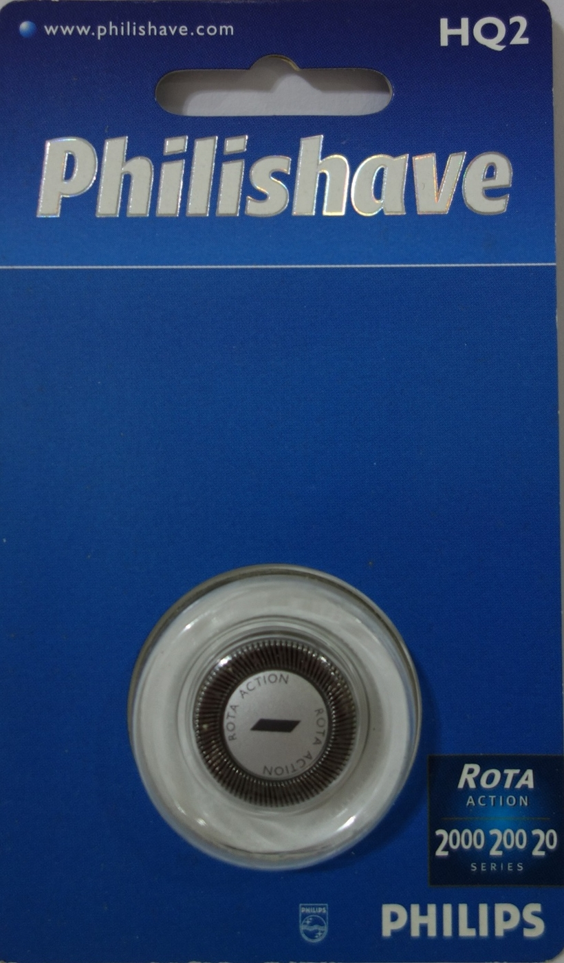 PHILIPS飛利浦HQ2荷蘭製刮鬍刀刀頭雙刀鋒設計電鬍刀原廠單顆入Philishave HQ-2