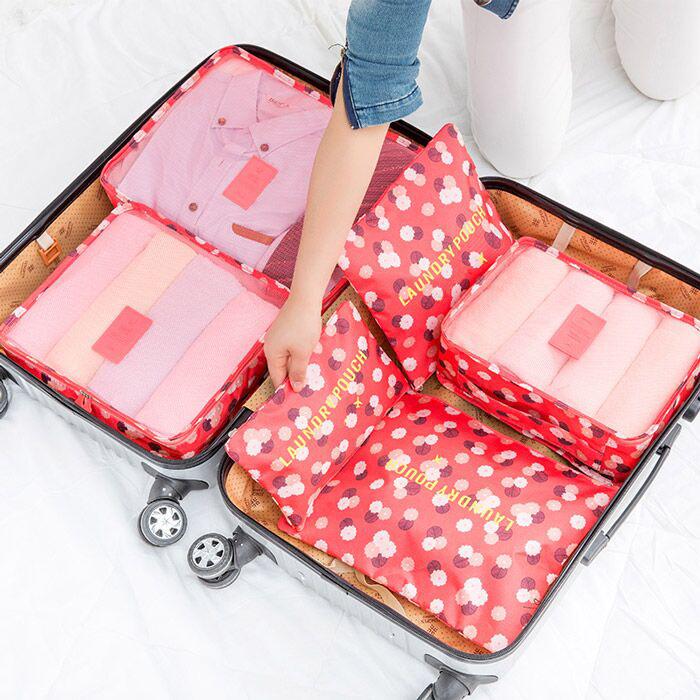 旅行收納袋套裝旅游必備行李箱整理包ღ部落男裝ღ