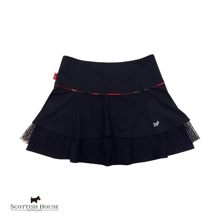剪接網紗蛋糕裙 Scottish House【AG2168】