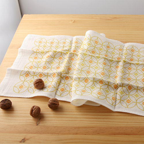 日本紗布巾和心傳花七寶34*84 cm長毛巾二重紗布巾taoru日本毛巾