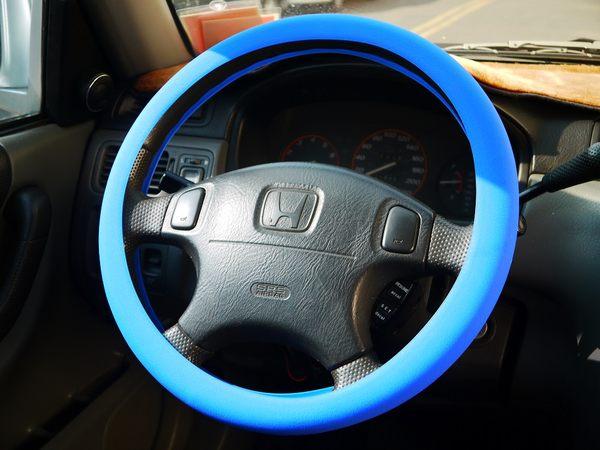 繽紛色彩環保矽膠汽車方向盤套護套保護套防汙套保證無味超強止滑保護方向盤S.M.L皆可用