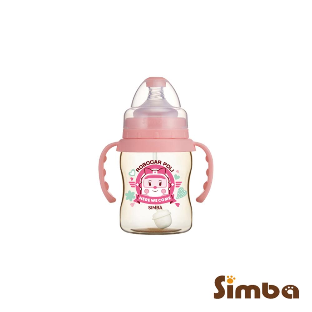 小獅王辛巴 安寶PPSU自動把手寬口葫蘆小奶瓶(200ml)