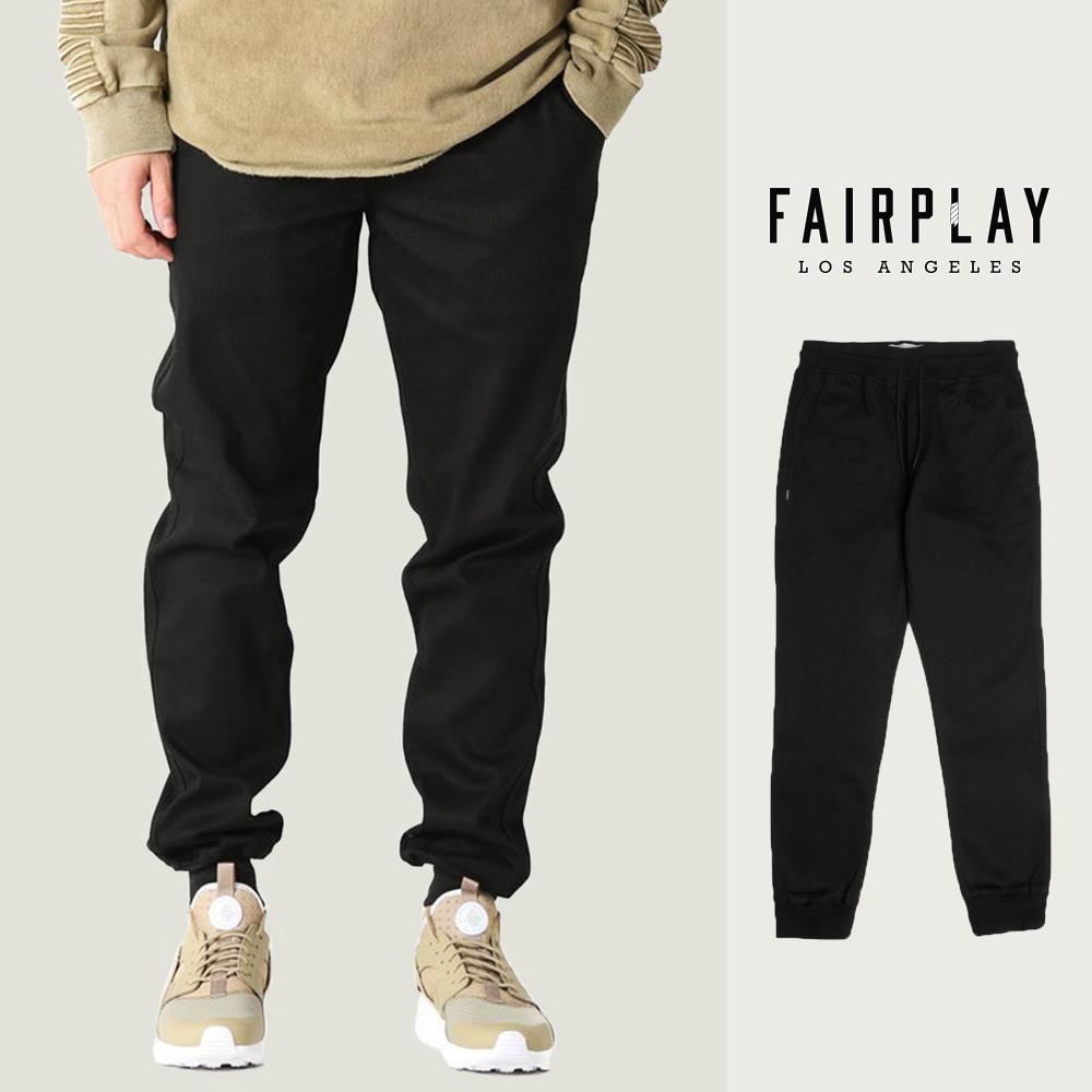 FAIRPLAY 01 SPORTS-JOGGER - BLACK 黑色 縮口褲  長褲 休閒褲 【GT Company】