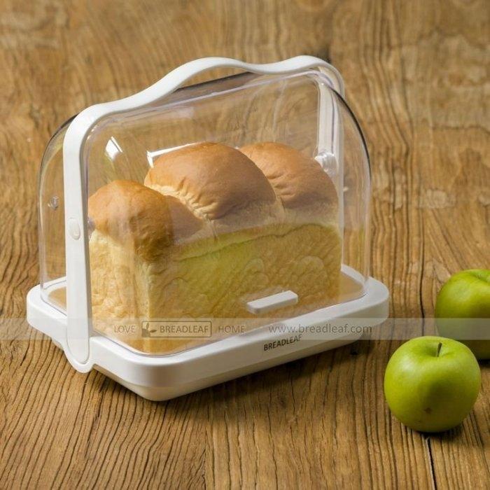 BreadLeaf 便攜手提 白色透明吐司麵包盒 蛋糕盒 【B103】透明盒 冷藏盒 保鮮盒 野餐盒