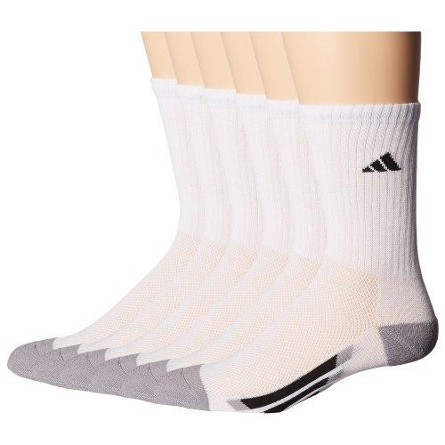Adidas-  愛迪達學童6雙組襪子(白色)