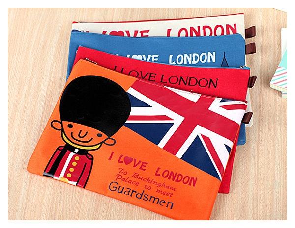 想購了超級小物飛越倫敦A4文件袋文件收納袋韓國創意文具辦公文具用品