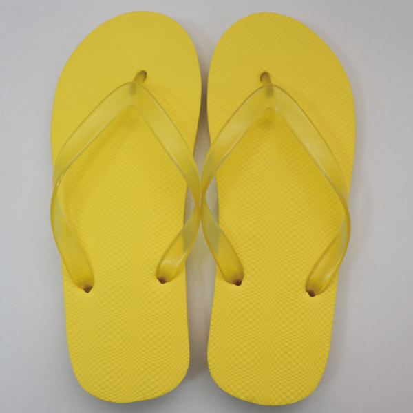 EVA素色人字拖鞋 男款-黃|台製海灘拖 台灣製 人字拖 沙灘拖 夾腳拖 拖鞋 室內室外 兩用