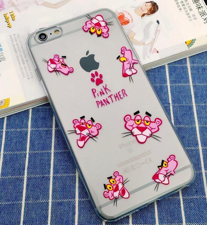 SZ15 YY iphone 6 plus手機殼個性頑皮豹超薄TPU iphone 6s Plus 5S SE手機殼iphone se保護套保護殼
