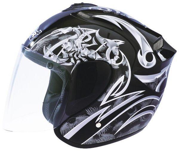 M2R 318安全帽3 4罩天蠍花色附鏡片帽袋免運