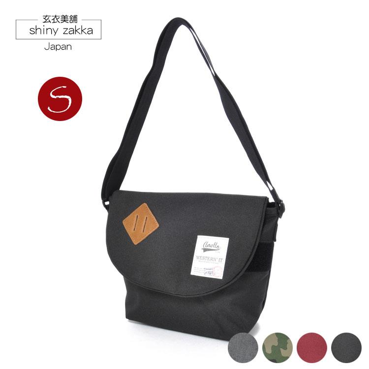 郵差包(S)-日本品牌包anello豬鼻斜背包-黑色-玄衣美舖