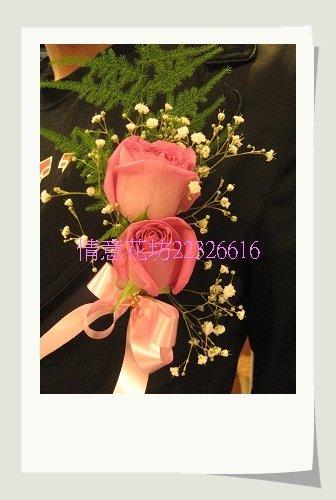 (YD-45)婚禮會場必備婚禮小物~婚禮&活動用胸花(紫天王玫瑰花-中)每組80元北縣永和花店