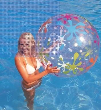 協貿國際充氣沙灘球透明充氣球兒童遊戲玩具1入